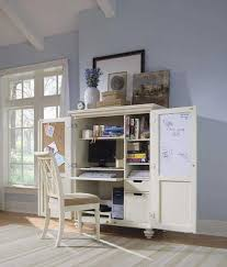 Computer Desk With Doors Small Home Office Cabinets Enhancing Space Saving Interior Design