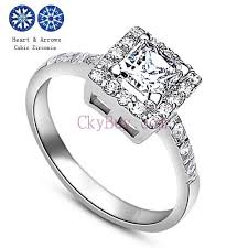 girls rings silver images Solid silver finger ring girls eternity cz engagement ring for women jpg