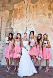 glamorous sweetheart sleeveless chiffon pink bridesmaid dress with
