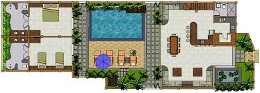 3 Bedroom Villa Floor Plans by Deluxe Villa 3 Bedrooms Villa Teman