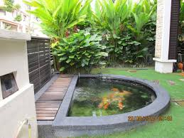 Backyard Small Pond Ideas Mini Bamboo Gazebo And Fish Pool Modern Home Interior Design