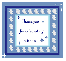 photo baby shower thank you card image