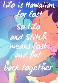 25 lilo stitch quotes ideas ohana lilo