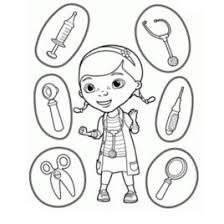 doctor tools coloring pages doc mcstuffins medical instruments