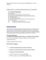 Land Surveyor Resume Sample by Quantity Surveyor Curriculum Vitae Example Contegri Com