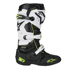 alpinestars motocross gear alpinestars mx boots tech 10 black white 2018 maciag offroad