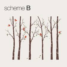 birch tree wall decals sticker set thin birch tree wall decal
