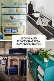 ikea kitchen cabinets in the bathroom 25 cool and functional ikea bathroom hacks digsdigs