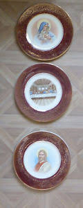 the last supper plates vintage religious plates wine color jesus the last supper