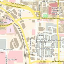 map of atlanta metro area scalablemaps vector map of atlanta center colorful city map theme
