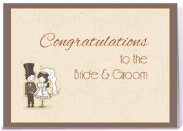 Groom To Bride Card Bride Groom Stick Couple Congratulation Greeting Card By