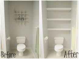 Space Saving Bathroom Furniture Small Bathroom Decoration Using Mounted Wall Thick White Wood