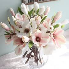 Artificial Flower Decorations For Home Online Get Cheap Magnolia Silk Flowers Aliexpress Com Alibaba Group