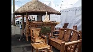 Gazebo En Bois Paillotes Bambou Fr Youtube