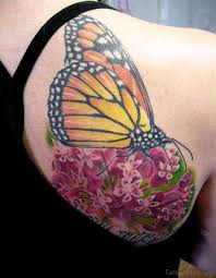 55 delightful butterfly tattoos on shoulder