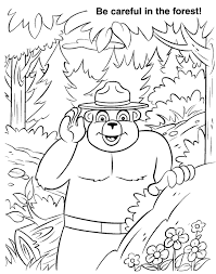 two baby bear smokey the bear coloring pages 30529