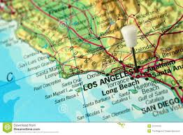 City Of Los Angeles Map by Los Angeles Pin Map Stock Photography Image 25704102