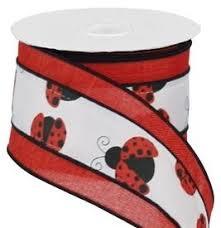 ladybug ribbon ladybug ribbon with faux burlap border 2 5