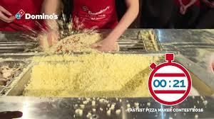 domino pizza jombang fastest pizza maker contest 2016 domino s pizza netherlands youtube