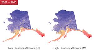 Alaska Temperature Map by Alaska National Climate Assessment