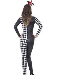 harlequin halloween costumes harlequin jester mime catsuit bodysuit clown halloween