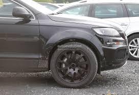 Audi Q7 Matte Black - bentley suv first spyshots hiding as audi q7 mule autoevolution
