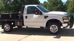hd video 2008 ford f250 xlt 4x4 flat bed utility truck for sale