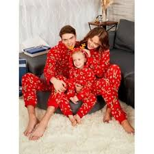 family pajamas cheap casual style free shipping