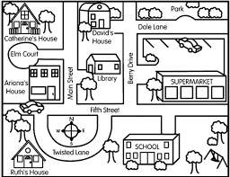 directions and maps directions map clipart 25