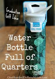 graduation gift for graduation gift idea water bottle of quarters one