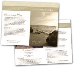 Funeral Program Ideas Memorial And Funeral Program Brochure Design Template By