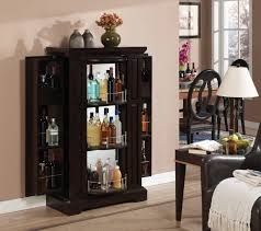Wood Bar Cabinet Furniture Charming Tall Bar Cabinet Field Decor