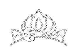 little tiara coloring page for girls printable free coloing