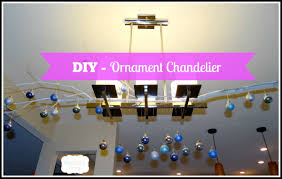 diy ornament chandelier beauteeful living