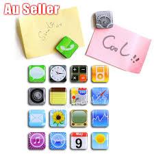for iphone app logo refrigerator fridge magnets whiteboard memo