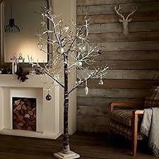 twig tree with lights garden mile rustic 5ft luxury brown twig tree birch christmas tree