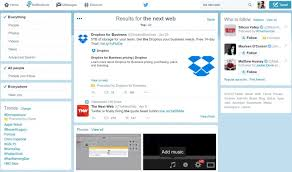layout of twitter page twitter is testing a cleaner search layout