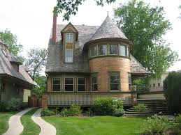 Home Design Exterior And Interior Frank Lloyd Wright Architectural Style With Classic Castle Design