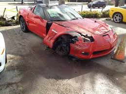 corvette crash chevrolet corvette crash dealership miami 6 images photo