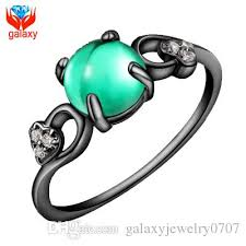 opal rings unique images 2018 unique green cats eye stone ring 18k black gold plated jpg