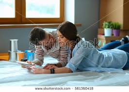 couple choosing paint colour swatch new stock photo 622784303