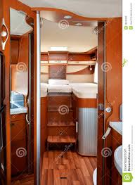 camper rv motorhome caravan interior royalty free stock image