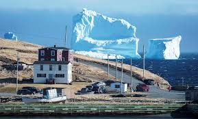 an enormous hunk of ice gets stuck in iceberg alley wired
