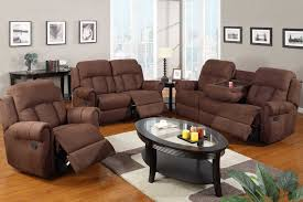 living room sets with recliners with brown color ideas home