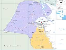 Map Of Persian Gulf Map Of Kuwait And Iraq World Maps