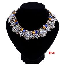 chunky statement chain necklace images 1 piece new gothic crystal flower women choker bib chunky choker jpg