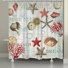Seashell Shower Curtains Shells Shower Curtain Laural Home