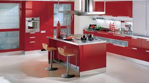 Red Kitchen Countertop - 15 extremely red kitchen cabinets home design lover