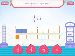 divide unit fraction by a whole worksheets 5th grade math