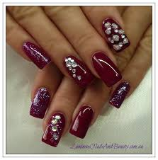 black and red 3d bling nails sbbb info
